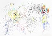 Children Drawing - Chaos In Family