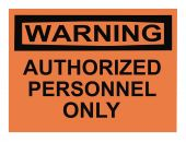 pic of osha  - OSHA authorized personnel only warning sign isolated on white - JPG