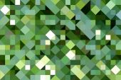 foto of tangram  - texture of 3d square and triangle shapes in various greens - JPG