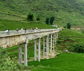 Amazing Bridge In Sapa Mountains