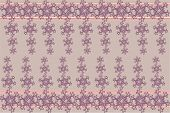 beige background with pink pattern.