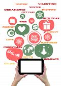 Online Winter Holiday Shopping Or Shop Business Template.