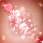 Pink Abstract Romantic Background With Stars