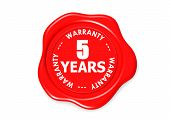 Five years warranty seal