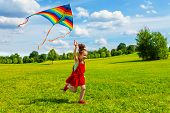 6 Years Old Girl With Kite