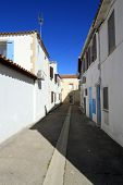 pic of mary  - Small street at famous Saintes - JPG