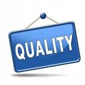 Quality control label 100% guaranteed warranty and top product
