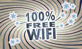 Vintage Wooden 100 Percent Free Wifi Symbol
