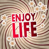 Red Vintage Wooden Enjoy Life Symbol
