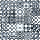 Set of 25 geometrical seamless vector patterns