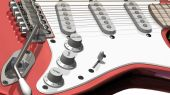 stock photo of stratocaster  - Isolated electric guitar on a white background - JPG