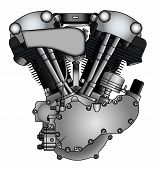 Classic V-twin Motorcycle Engine