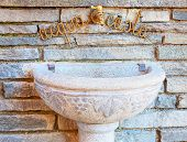 stock photo of turkey-cock  - Ancient fountain in a small italian town - JPG
