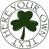 St. Patrick's Day/clover Button