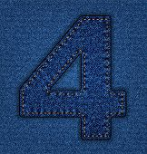 Jeans alphabet number 4