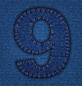 Jeans alphabet number 9