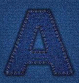 Jeans alphabet letter A