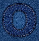 Jeans alphabet letter O