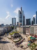 Aerial Of The Zeil And The Hauptwache In Frankfurt