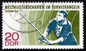 Postage Stamp Gdr 1968 Angler