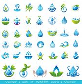 pic of minerals  - Set of vector Water icons - JPG