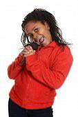 young jamaican girl singing