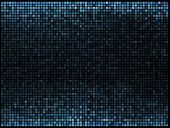 Multicolor abstract lights blue disco background. Square pixel m