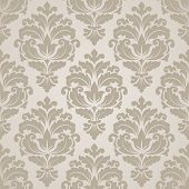 stock photo of flourish  - Damask seamless pattern for design - JPG