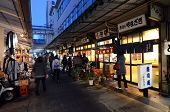 Tokyo - Nov 26: Shoppers Visit Tsukiji Fish Market On November 26, 2013 In Tokyo.