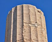 stock photo of akropolis  - detail of ancient column - JPG