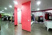 European Dressing Room In Stylish Store