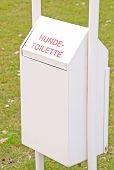 A German doggy rubbish toilet bin