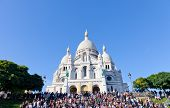 Sacre Coeur Basilica in summer day