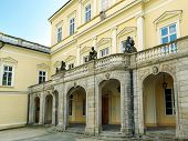 PULAWY, POLAND - MAY 01 2014: Historic Czartoryski's Palace in Pulawy, Poland now opened to the publ