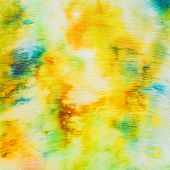Batik - Abstract Yellow Spotted Pattern On Silk