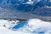 Ski Resort Bad Gastein In Winter Snowy Mountains, Austria, Land Salzburg,  Austrian Alps - Nature An
