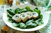 Chicken Rolls With Spinach