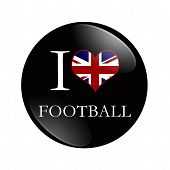 I Love British Football Button