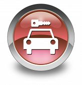 Icon, Button, Pictogram Car Rental