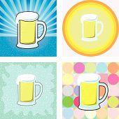 glass of beer graphic in retro style