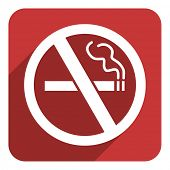 no smoking flat icon