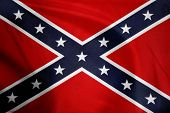Closeup of Confederate flag