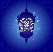 Traditional ramadan light graphic