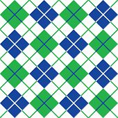 Argyle Pattern in Blue and Green
