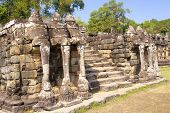Fragment Of Elephant Terrace In Angkor Thom