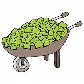 An image of a money wheelbarrow.