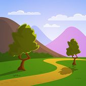 Cartoon Summer Landscape