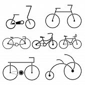 bicycle symbol design vector