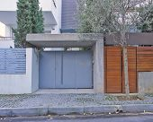 contemporary wealthy house entrance, Athens Greece