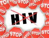 Stop Hiv Concept